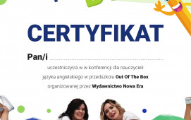 Out of the Box - certyfikat i broszura